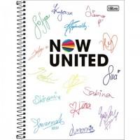 Caderno Universitário Capa Dura 16 Matérias 256 Folhas Now United A