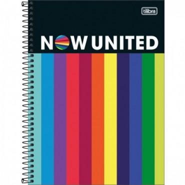 Caderno Universitário Capa Dura 16 Matérias 256 Folhas Now United C