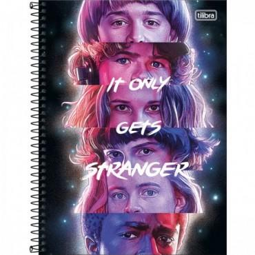 Caderno Universitário Capa Dura 16 Matérias 256 Folhas Stranger Things B
