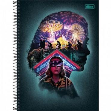 Caderno Universitário Capa Dura 16 Matérias 256 Folhas Stranger Things D