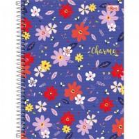 Caderno Universitário Capa Dura 12 Matérias 192 Folhas Charme