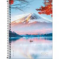 Caderno Universitário Capa Dura 16 Matérias 256 Folhas Click Explora