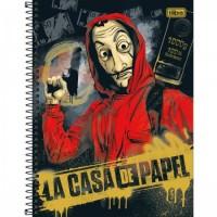 Caderno Universitário Capa Dura 16 Matérias 256 Folhas La Casa de Papel B