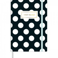 Caderno Pontilhado Costurado Capa Dura Fitto M West Village 80 Folhas