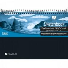 Caderno Sketchbook Espiral Capa Plástica A4 Académie 50F