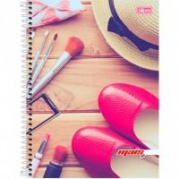 Caderno Universitário Capa Dura 12 Matérias 240 Folhas D+ Feminino A
