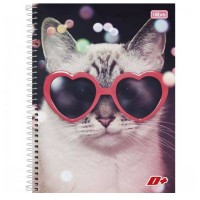 Caderno Universitário Capa Dura 12 Matérias 240 Folhas D+ Feminino C