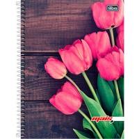 Caderno Universitário Capa Dura 12 Matérias 240 Folhas D+ Feminino B