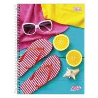 Caderno Universitário Capa Dura 16 Matérias 320 Folhas D+ Feminino B