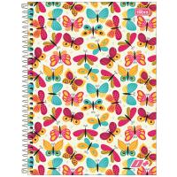 Caderno Universitário Capa Dura 16 Matérias 320 Folhas D+ Feminino E