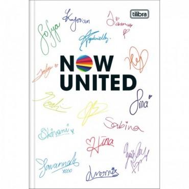 Caderno Brochura Capa Dura 1/4 Now United 80F A