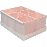 Caixa Organizadora de Objetos C/6 Porta Objetos Rosa Dello