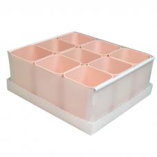 Caixa Organizadora de Objetos C/9 Porta Objetos Rosa Dello