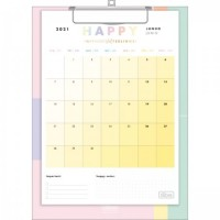 Calendário Planner Prancheta Happy 2021 D