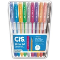 Caneta Cis Glitter Gel C/10 Cores
