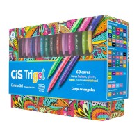 Caneta Cis Gel Trigel Display C/60 Cores