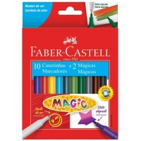 Hidrocor Faber Castell Magic C/10 Cores + 2