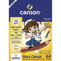 Bloco Canson A4 140G Desenho Branco C/20F