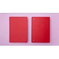 Capa e Contracapa Caderno Inteligente Grande Vermelho Cereja