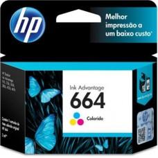 Cartucho HP 664 Colorido Original F6V28AB HP Deskjet 2136, 2676, 3776, 5076, 5276
