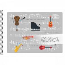 Caderno de Música Espiral Capa Flexível P Tilibra 48