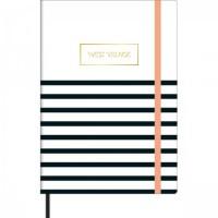 Caderno Pontilhado Costurado Capa Dura Fitto M West Village 80 Folhas