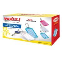 Chaveiro Organizador Plástico Waleu C/100 Unidades