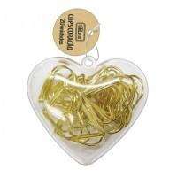 Clips Coração Dourado Tilibra C/20