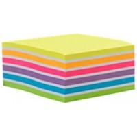 Bloco Adesivo Maxprint 76 X 76mm Cubo Arco-Iris Neon 400F