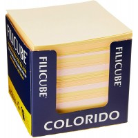 Bloco Lembrete Filicube Colorido 90G 86x86x80 C/650 Folhas