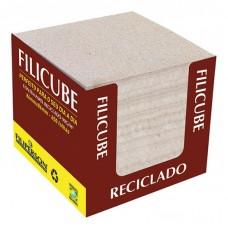 Bloco Lembrete Filicube Reciclado Natural 90G 86x86x80 C/650 Folhas