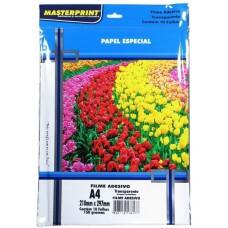 Papel Filme Vinil Adesivo Transparente A4 MasterPrint 150g C/10f