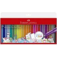 Caneta Faber Castell Fine Pen 0,4mm C/24 Cores