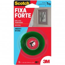 Fita Dupla Face Fixa Forte VHB 24mmX2m Transparente Scotch 3M