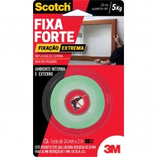 Fita Dupla Face Fixa Forte Extrema 24mmx2m Espuma Scotch 3M