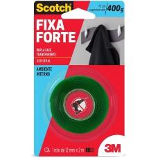 Fita Dupla Face Fixa Forte VHB 12mmX2m Transparente Scotch 3M