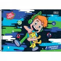Caderno Desenho Espiral Capa Dura Gato Galactico 80 Folhas A
