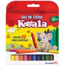 Giz de Cera Koala C/12 Cores