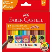 Gizão de Cera Faber Castel Caras & Cores 6 + 6 Tons de Pele
