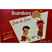 Gizão de Cera Bambini Plus C/12 Cores