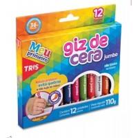 Gizão de Cera Tris Triangular C/12 Cores
