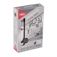 Grafite 2.0 MM 2B TRIS C/6 unidades