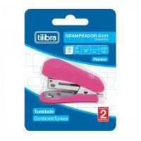 Grampeador Mini Tilibra com Extrator G101 P/12F Rosa
