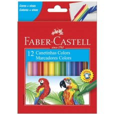 Hidrocor Faber Castell  C/ 12 Cores 15.0112CZF