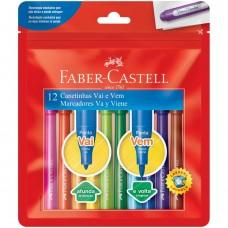 Hidrocor Faber Castell Vai e Vem C/12 Cores