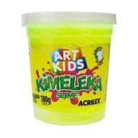Kimeleka Slime Art Kids Acrilex - Amarelo Limão 180g