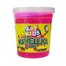 Kimeleka Slime Art Kids Acrilex - Rosa 180g