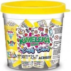 Balde Kimeleka Slime Candy Colors  Acrilex C/30 Potes de 25g