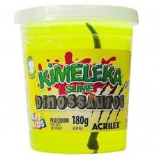 Kimeleka Slime Dinossauros Acrilex - Amarelo 180g