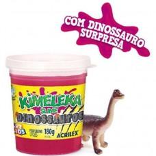 Kimeleka Slime Dinossauros Acrilex - Vermelho 180g
